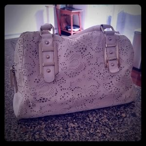 Aldo Lasercut Cream Purse